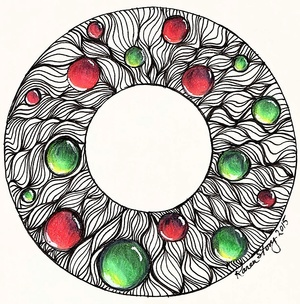 Tangled Christmas Wreath with Gems
