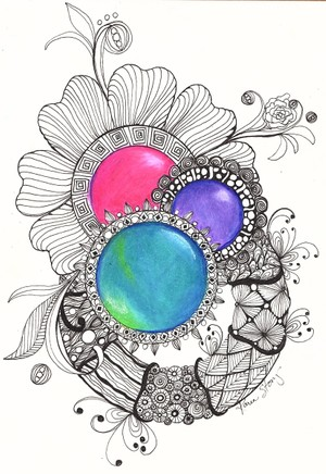 Colored Gems and Wreaths