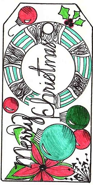 PDF 8 Merry Christmas Tags, color