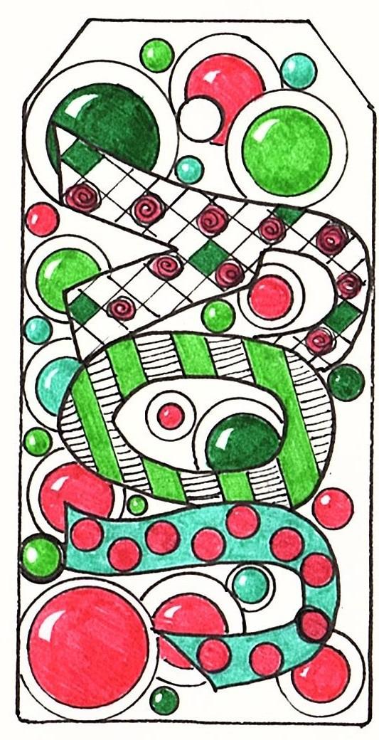 Colored Christmas Tags