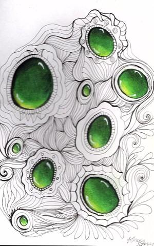 Emerald Zentangle