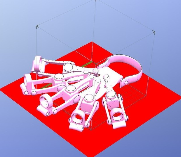 3D Printed Exoskeleton Hands - In One Piece - STL Files