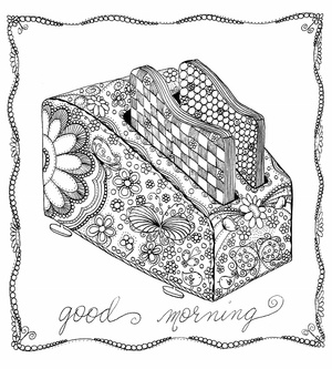 Good Morning Toaster Coloring Page