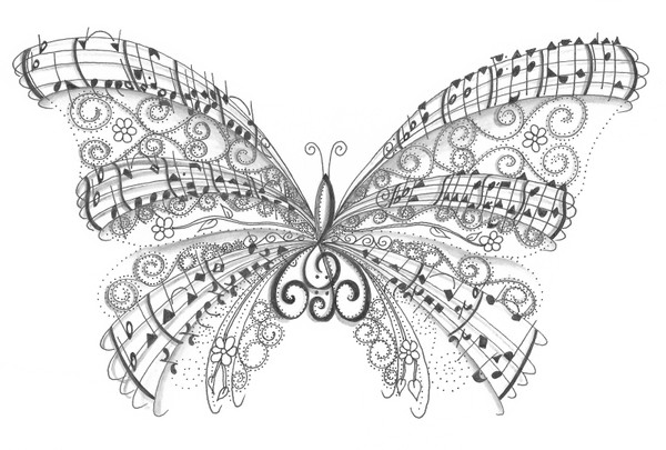 Musical Notes Butterfly