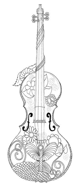 Violin Coloring Page