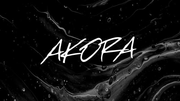AKORA Brush Typeface (Free Version)