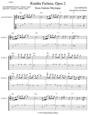 Rumba Furiosa, Opus 2 - Jim Stubblefield - Guitar Tab/Notation