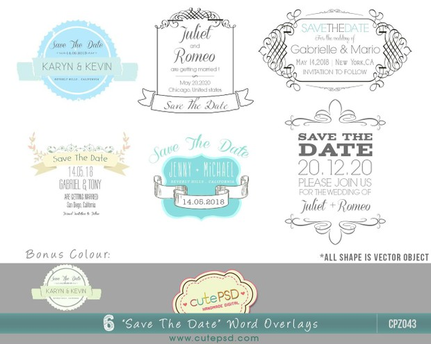 cpz043 save the date photo overlays photoshop templa