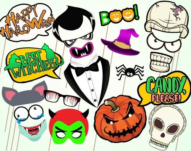 Halloween Photo Booth Props Halloween Ideas Monste