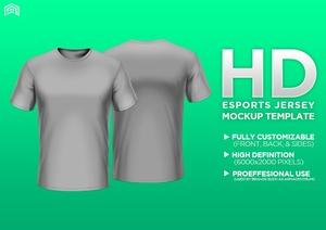 HD Professional Short Sleeve Apparel Mockup PSD