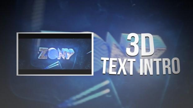 Intro Texto 3D [720p60fps] [OFF]