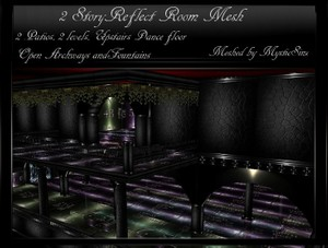 IMVU Mesh 2-Story Reflect Room Mesh