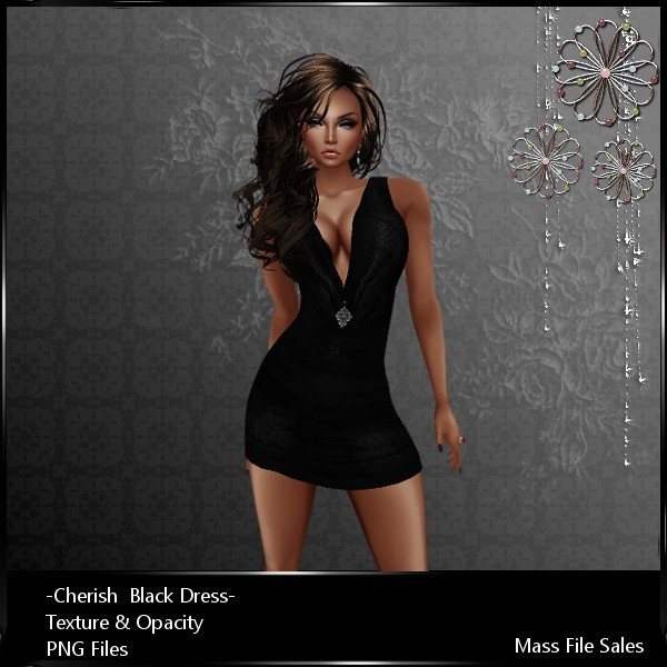 Imvu Clothing Cherish Black Dress