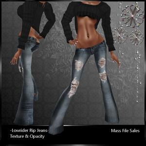 IMVU Lowrider Rip AP Jeans
