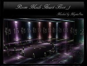 IMVU Mesh Reflect Room Heart Floor
