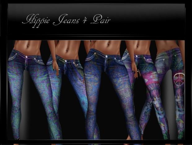 IMVU Clothing HippieJeans 4 pair