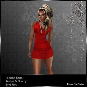 IMVU Clothing Cherish Red Dress