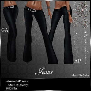 IMVU Clothing Patterned Jeans