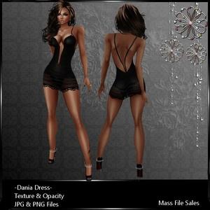 IMVU Clothing Dania Black Dress