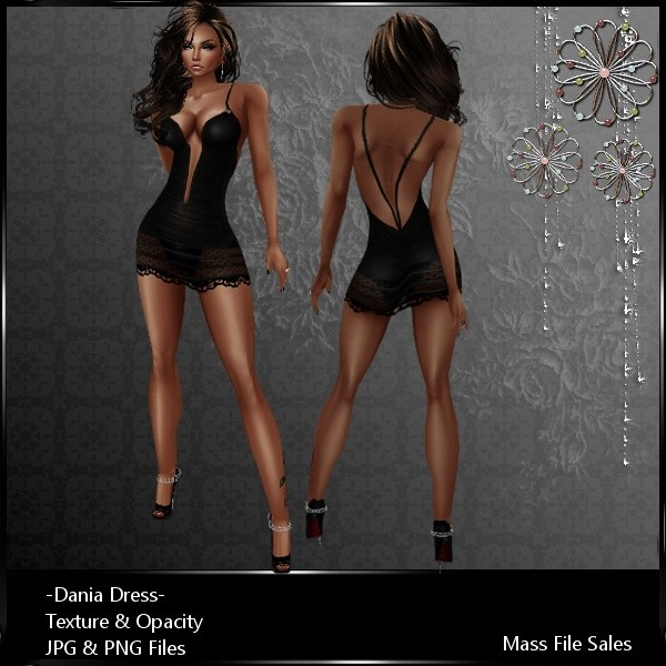 IMVU Clothing Dania Black Dress