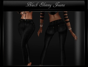 Black Skinny Jeans Sis3D IMVU