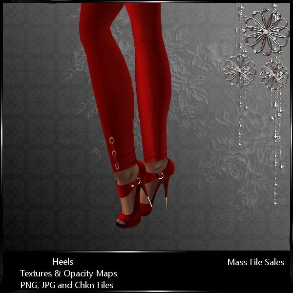 IMVU Textures Red Stiletto Heels