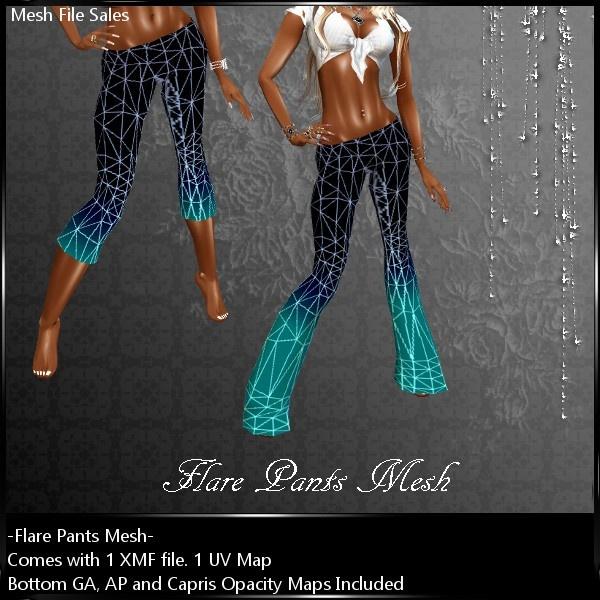 IMVU Mesh Flare Pants