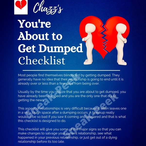 Chazz's You're About to Get Dumped Checklist