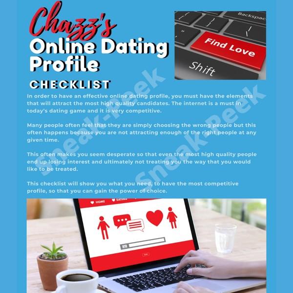 Chazz's Online Dating Profile Checklist