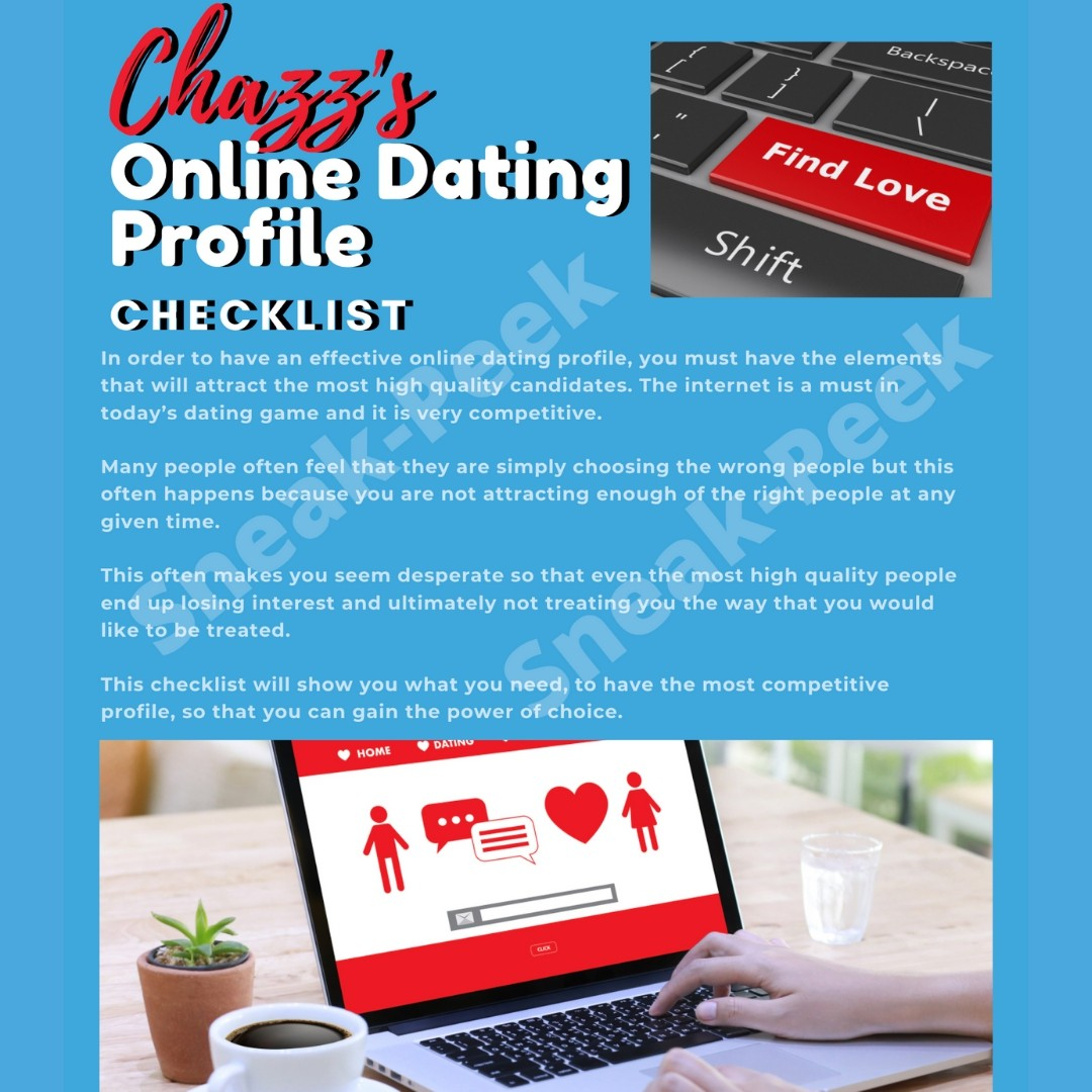 Chazz's Online Dating Profile Checklist