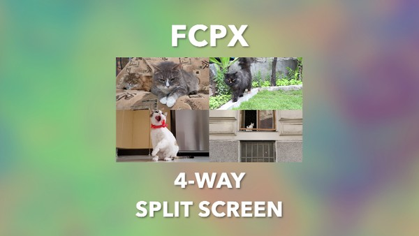 Generators | 4-Way Split Screen (FCP 10.4.8)