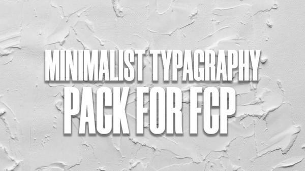 Minimalist Typography Pack