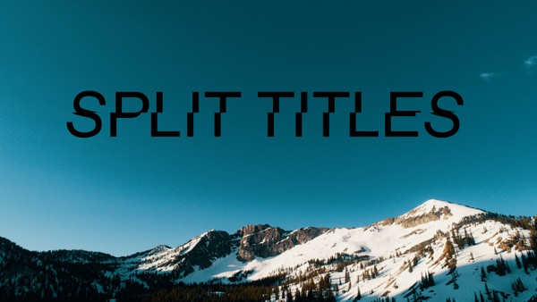 Split Titles
