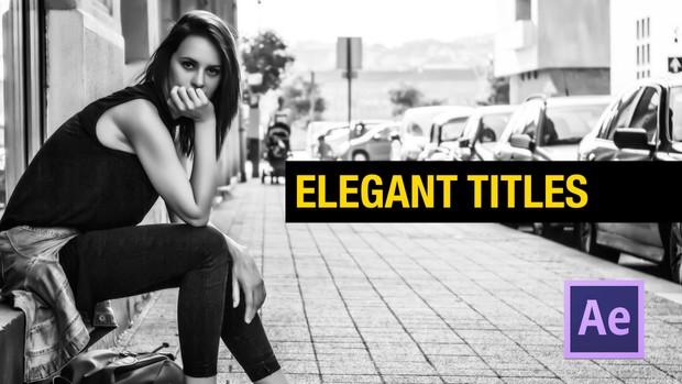 Elegant Titles for After effects