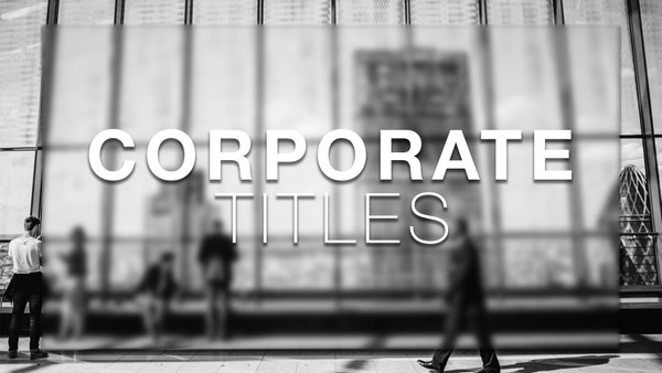Corporate Titles For FCPX