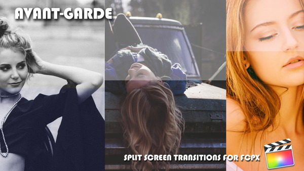 Avant-garde Split screen transitions for Final Cut Pro