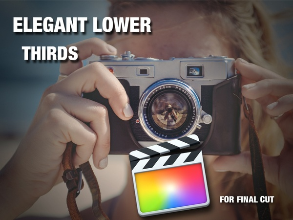 Elegant lower thirds for Final Cut Pro X