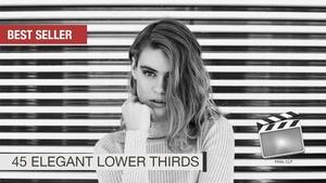 45 Elegant Lower Thirds FOR FCPX