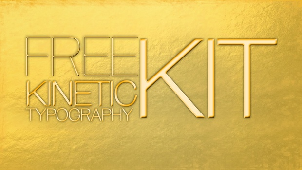 Free kinetic Typography Kit