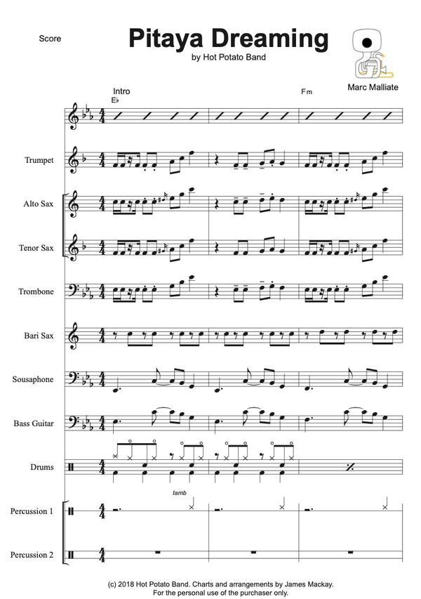 PITAYA DREAMING - Sheet Music (10 pce)