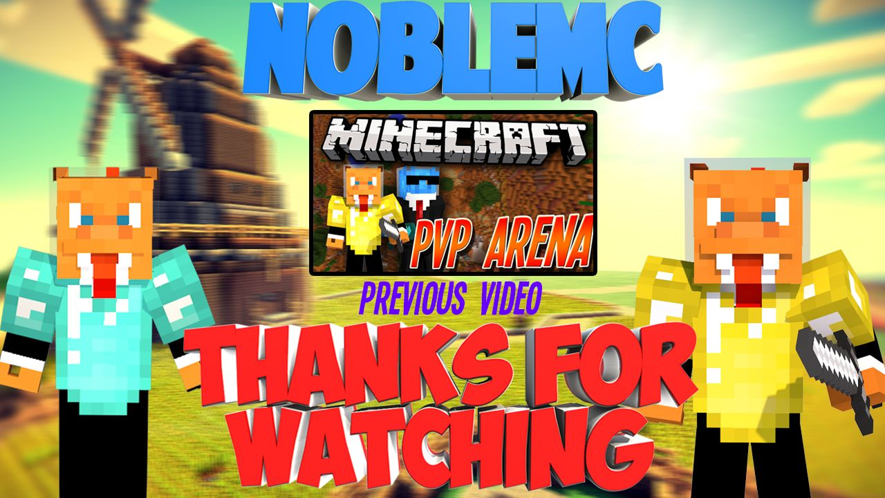 Youtube minecraft outro noblegfx for Minecraft outro template movie maker