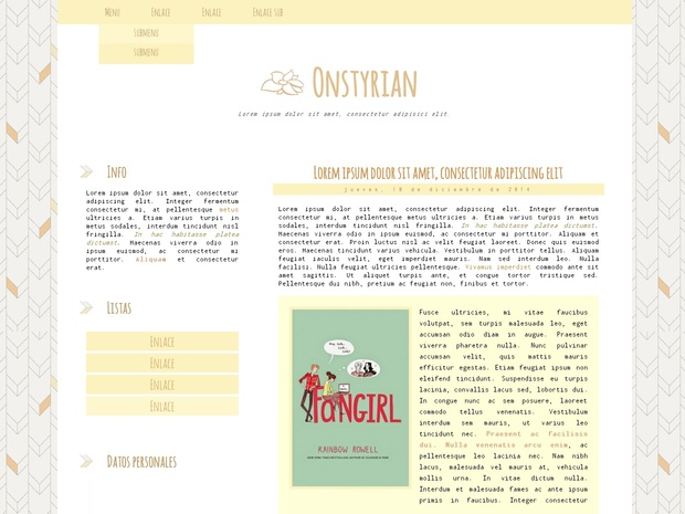 Blogger Template FREE #1