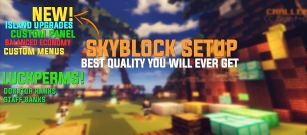 🌿 Skyblock Setup  👑 Crates, Island Upgrades 👑, and more! 🌿