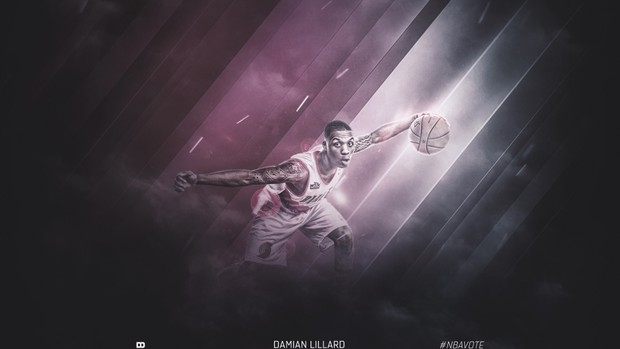 Damian Lillard (Sports Design PSD)