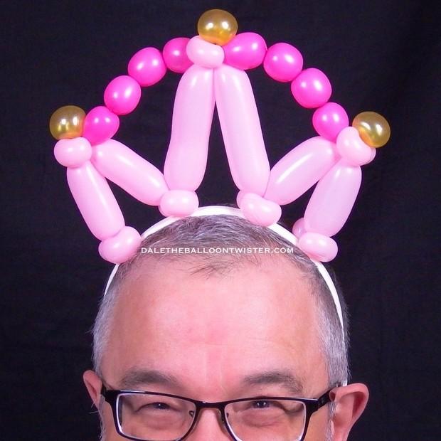 3 Balloon Crown/Tiara Hairband