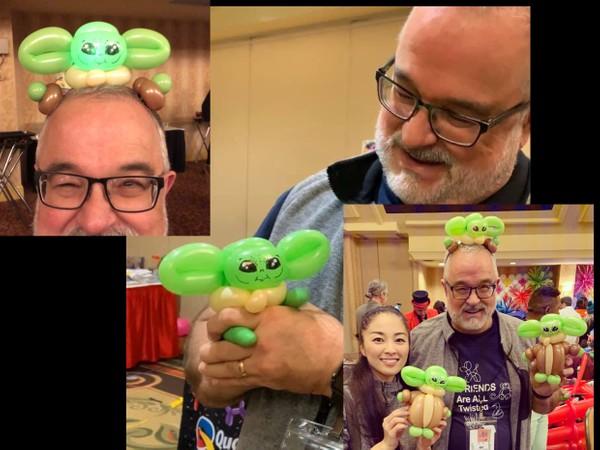 3 Baby Yoda Balloon Designs -  Hand Puppet, Headband and Full Body