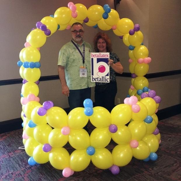 Large Balloon Easter Basket Photo-Opp Station