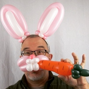 Bunny Ears Hairband with Muzzle Carrot Photo-Opp Prop