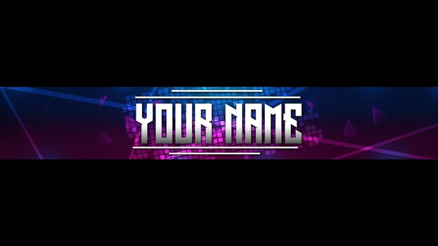 Neon Abstract YouTube Banner