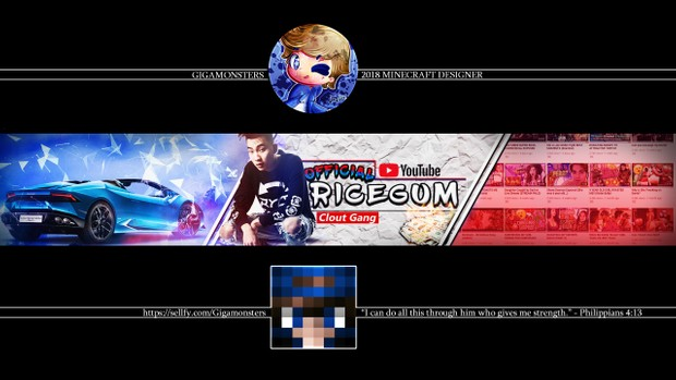 PROFESSIONAL YouTube Banner (CUSTOM MADE)